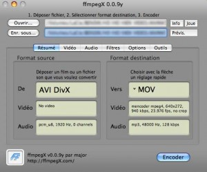 Convertir des video avi, mov, divx, avi, swf
