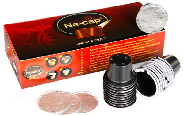 Kit de dosettes vides compatibles machines Nespresso