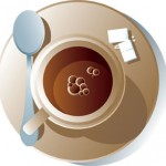 Arabica torréfié dans une tasse de café
