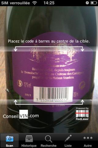 photo scanner etiquette vin iphone